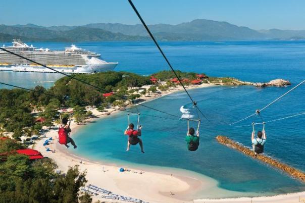 Zip-line in Haiti